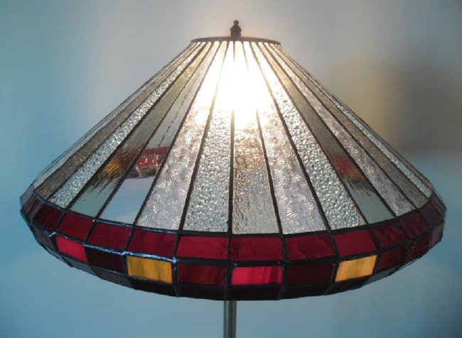 Panelled Lamp Shade for Standard Lamp