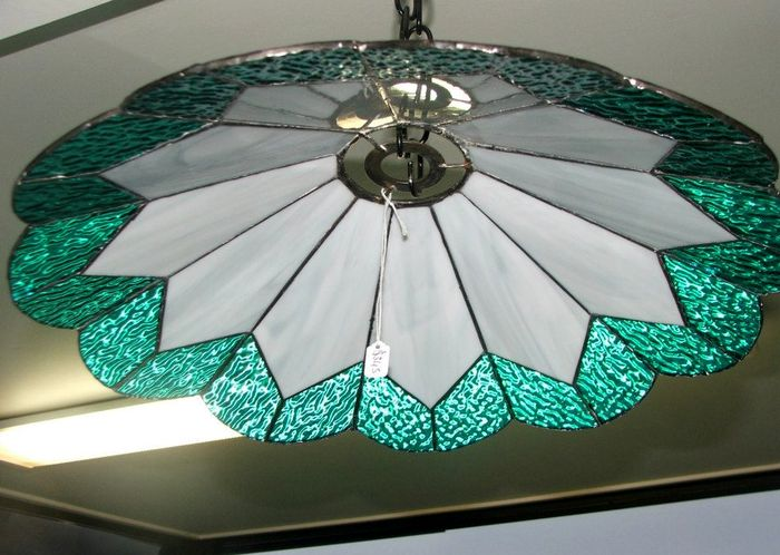 Teal Ceiling Lampshade